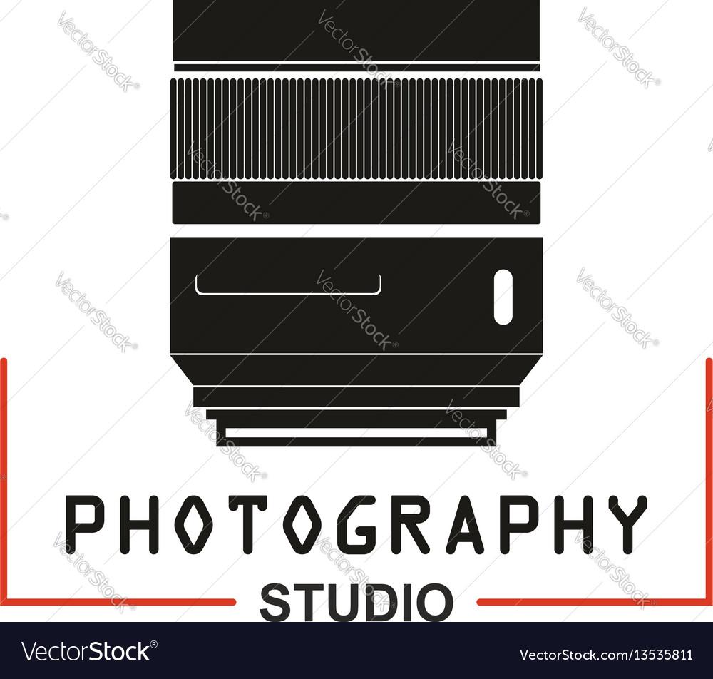 Photo studio camera lens icon