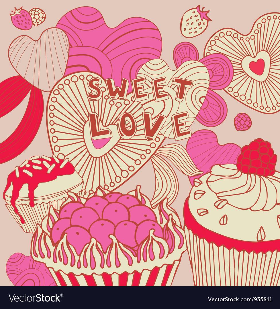 Retro Sweet Love Background