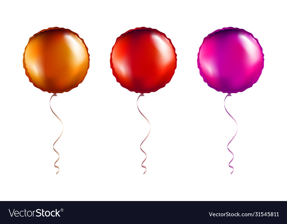 Set bronze and pink round shaped foil balloons