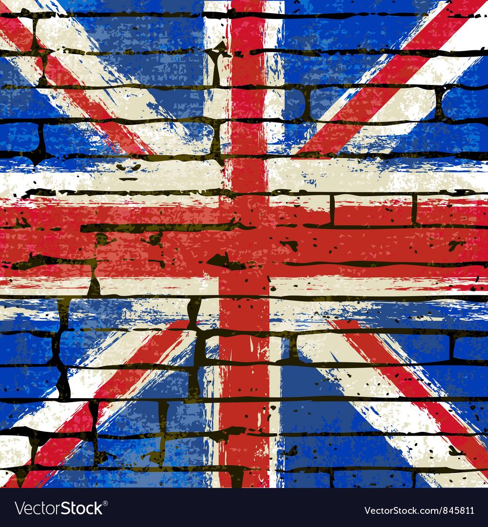 Union Jack Wall vector image