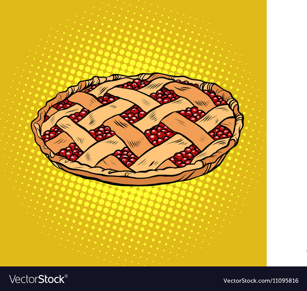 Berry pie thanksgiving and family celebration vector image
