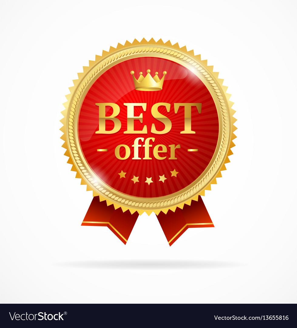 Best offer sale label medal