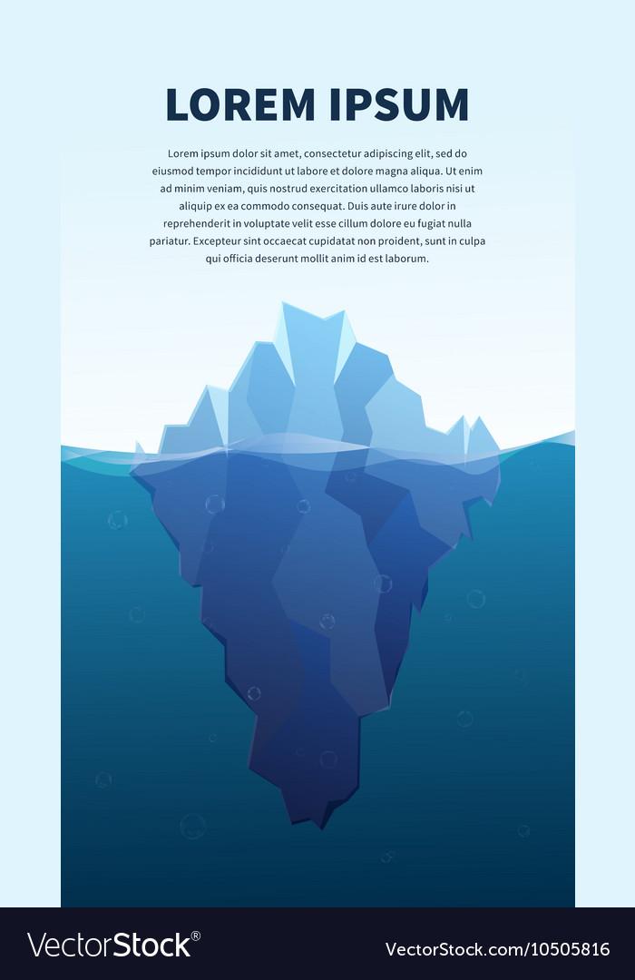 Big iceberg in the sea concept