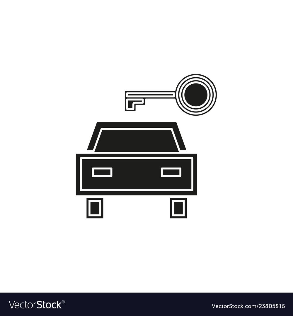 Car rentals label logo icon emblem