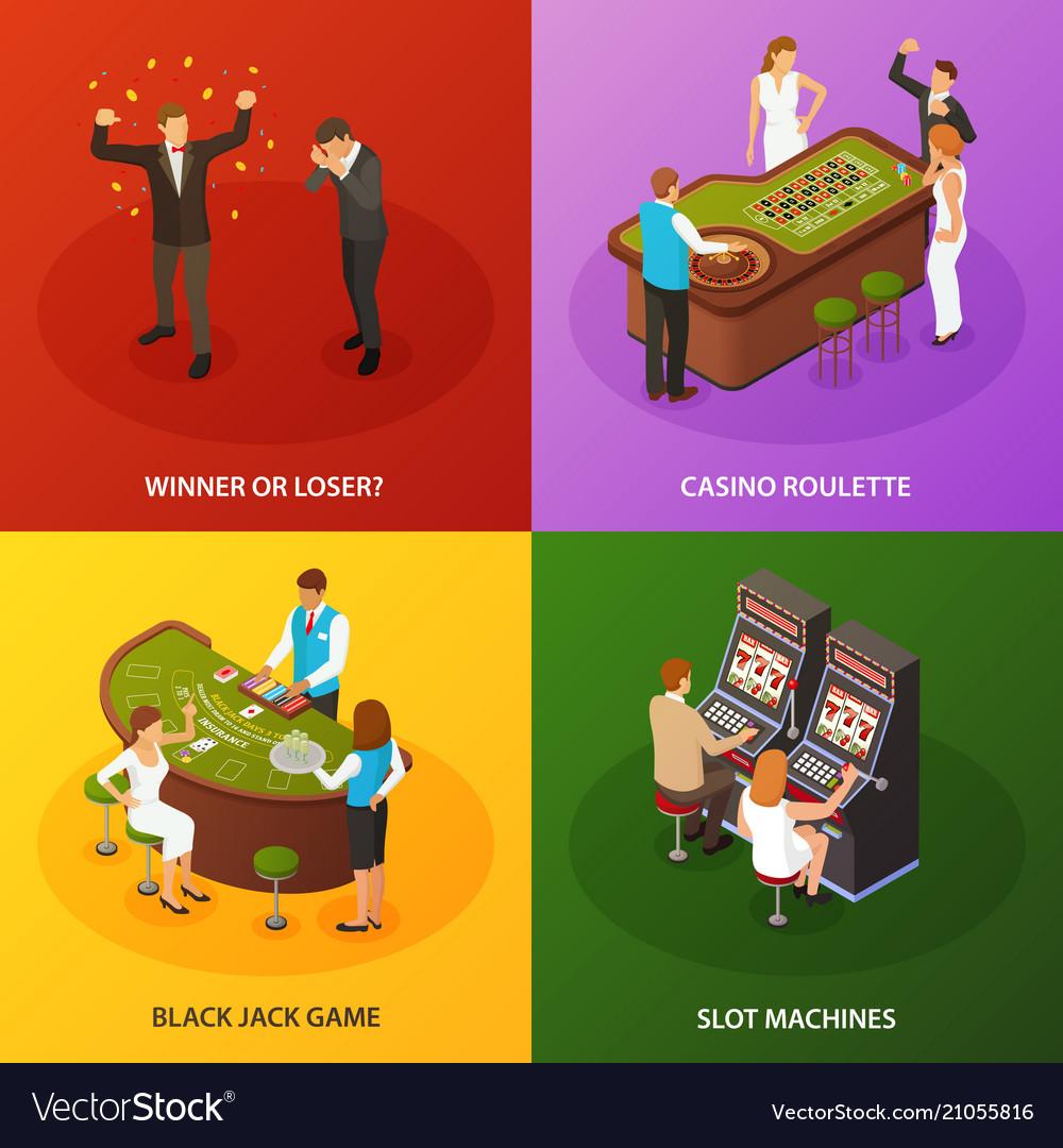 Casino isometric concept design