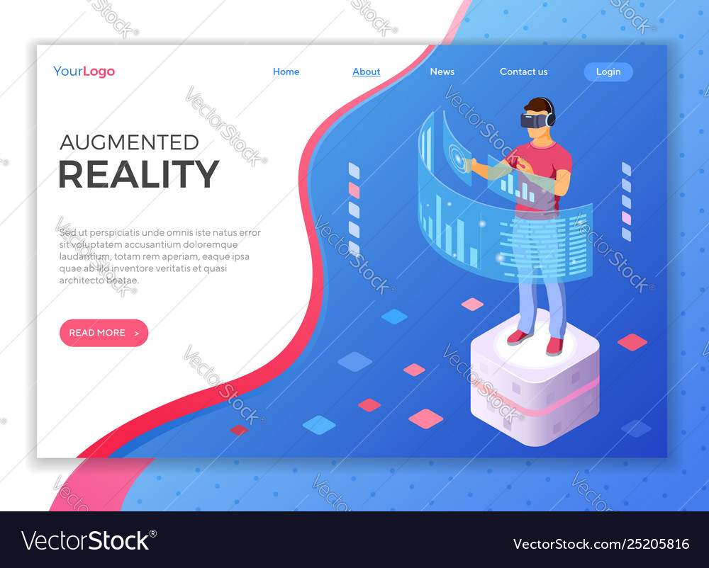 Isometric virtual augmented reality