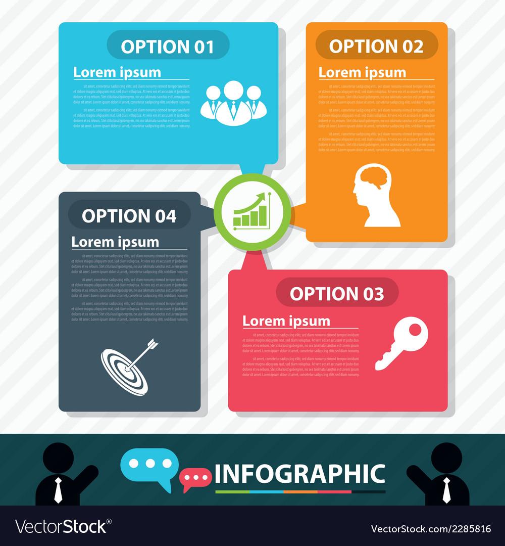 Modern bubble banner infographic design