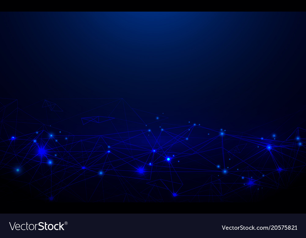 Abstract futuristic molecules lines circuit board vector image