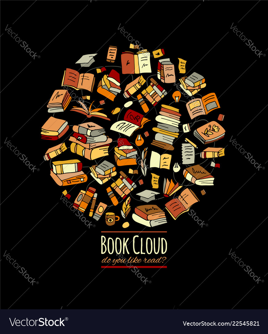 Books collection sketch for your design