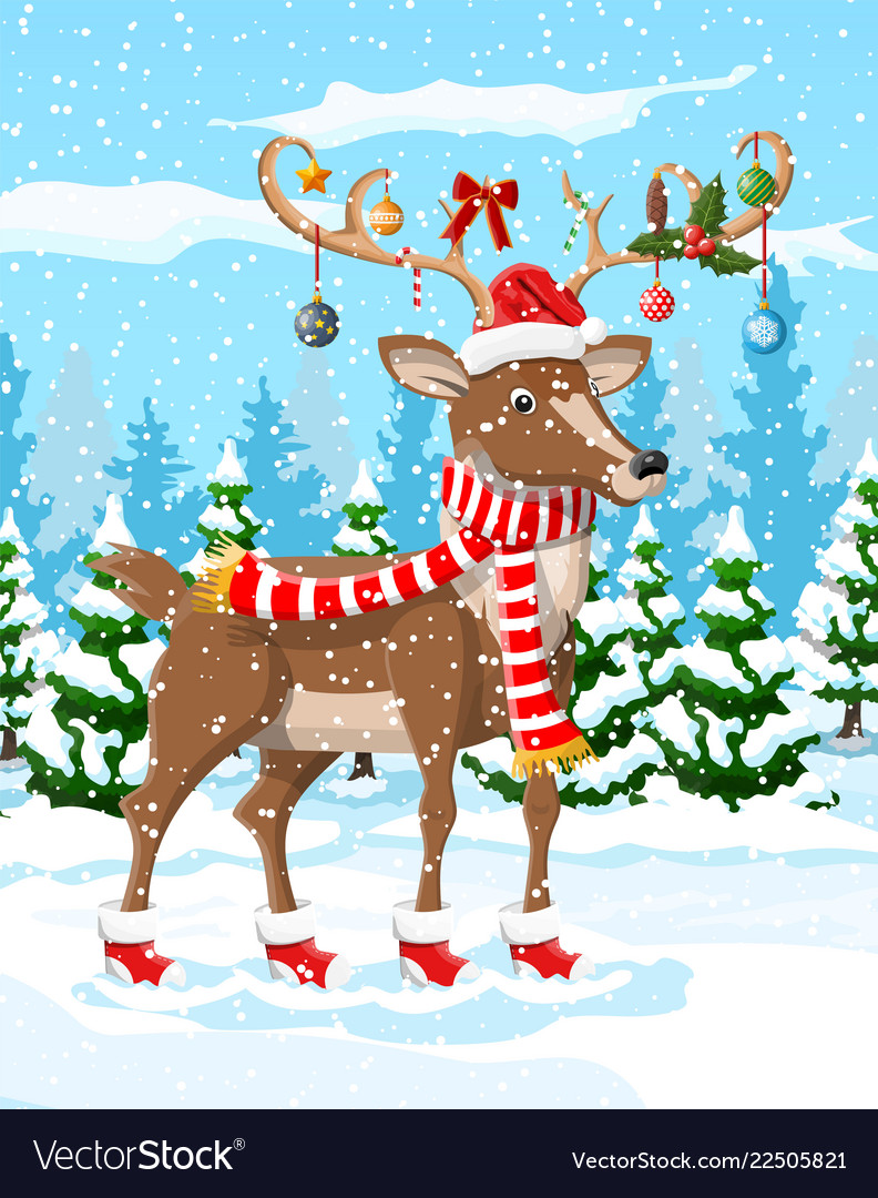 Christmas Backgrounds Cute.Christmas Background With Cute Deer