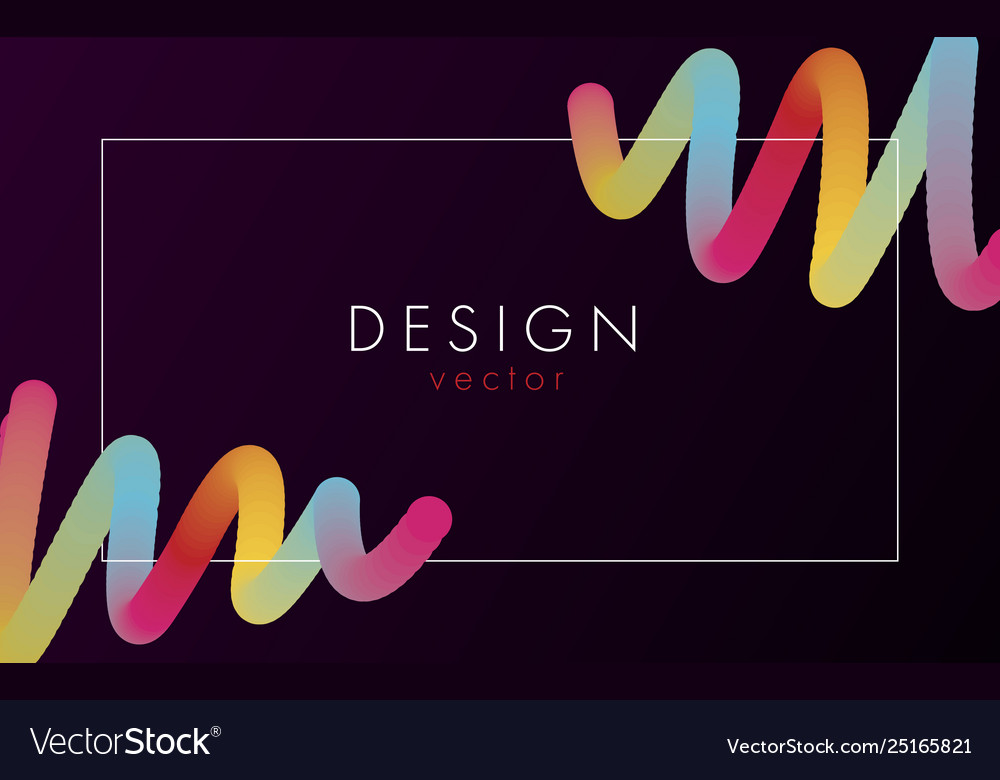 Design abstract poster with text in frame