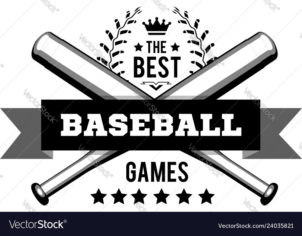 Emblem for best baseball games consisting a