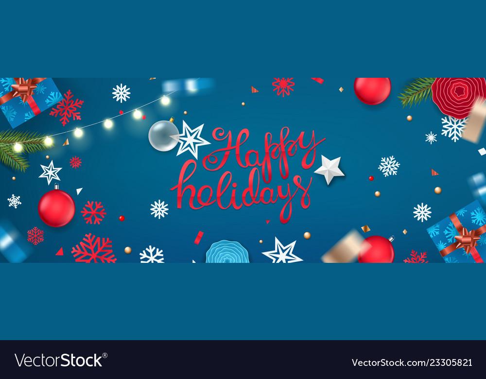 Christmas In Australia Background.Happy Holidays Banner Christmas Background Xmas