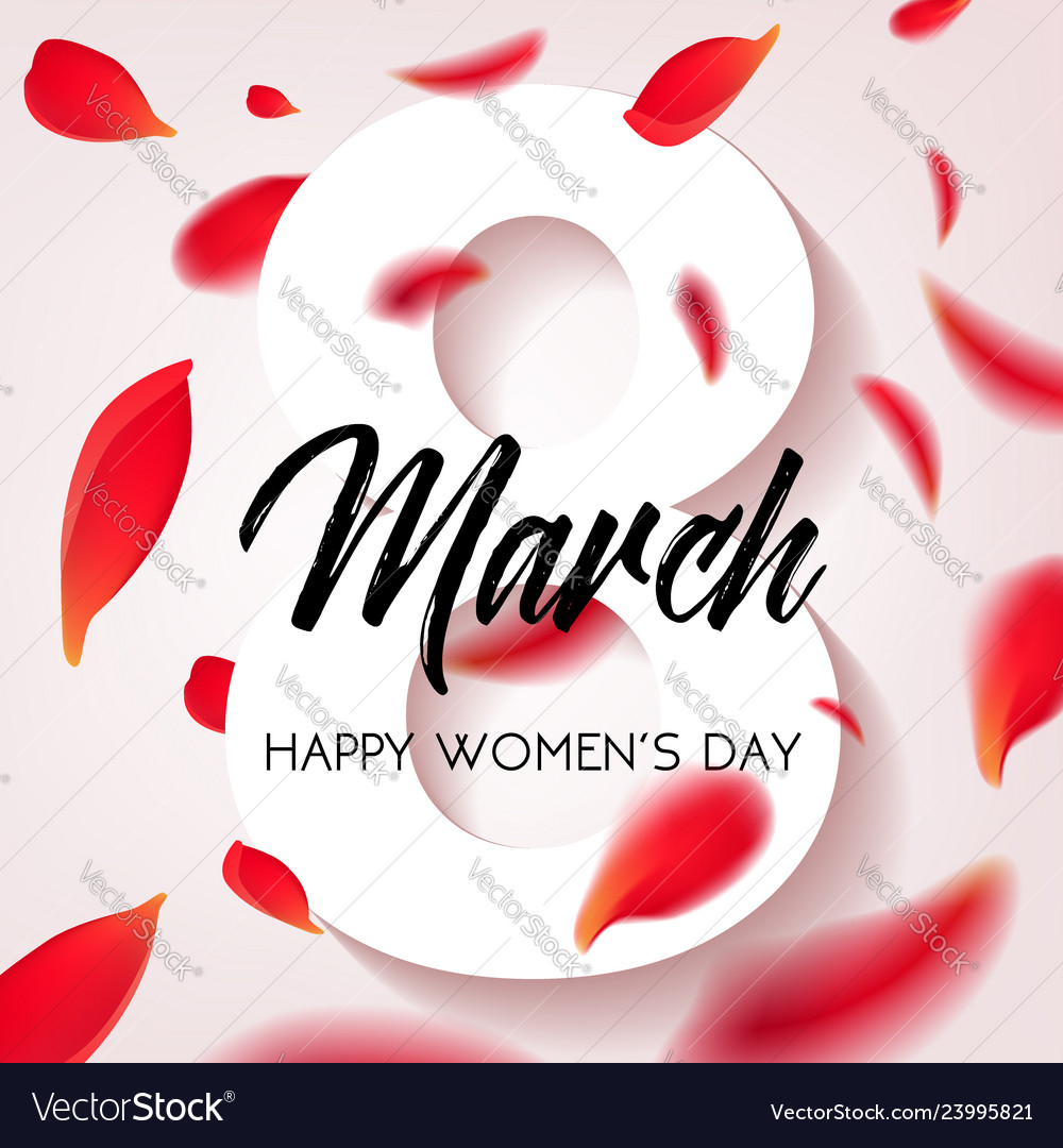 Happy womens day - march 8 congratulatory banner