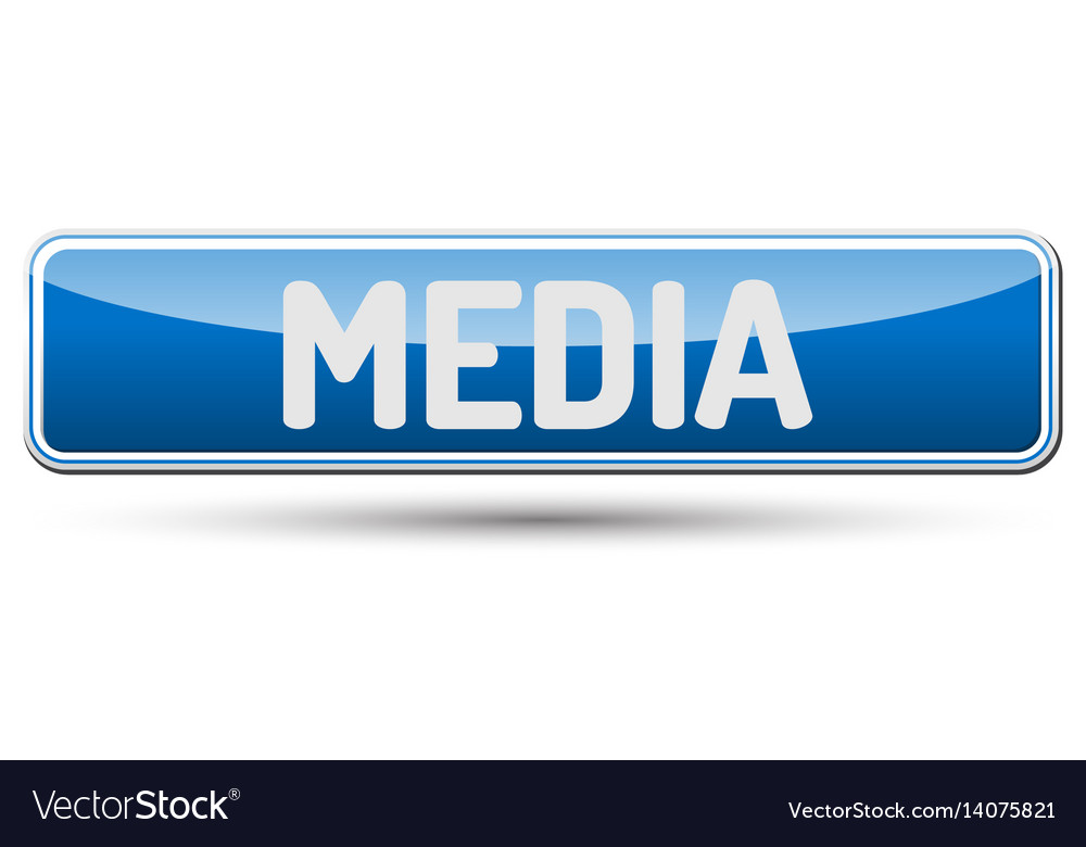Media - abstract beautiful button with text vector image