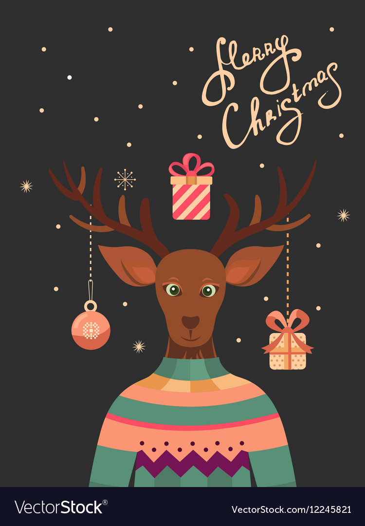 Merry Christmas greeting cards Royalty Free Vector Image