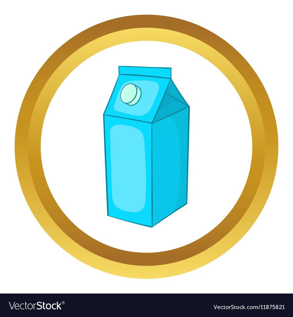 Milk carton icon vector image