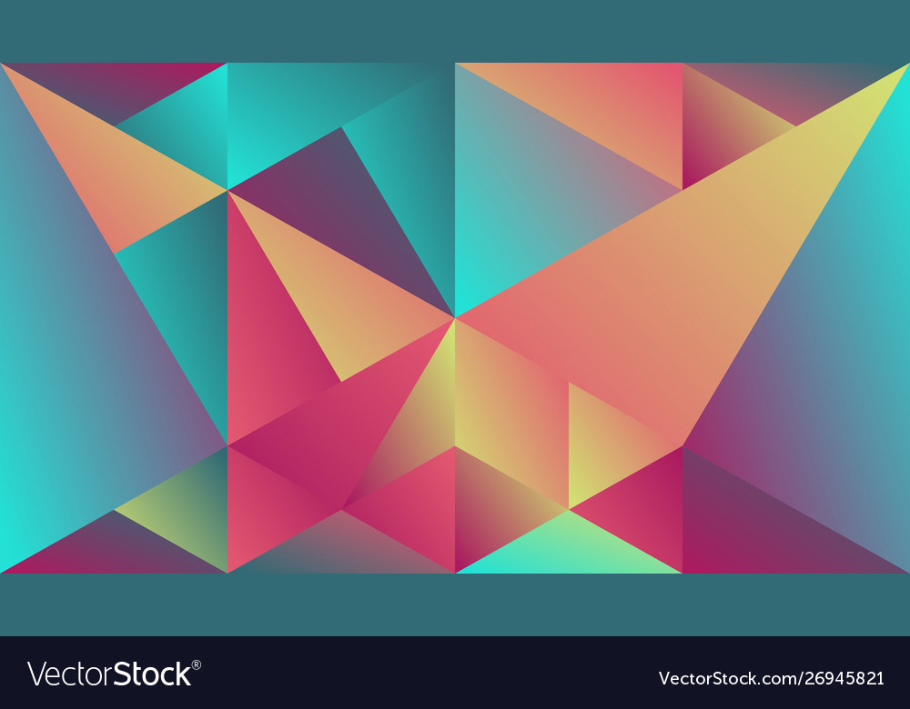 Minimal multicolored geometric gradient triangle