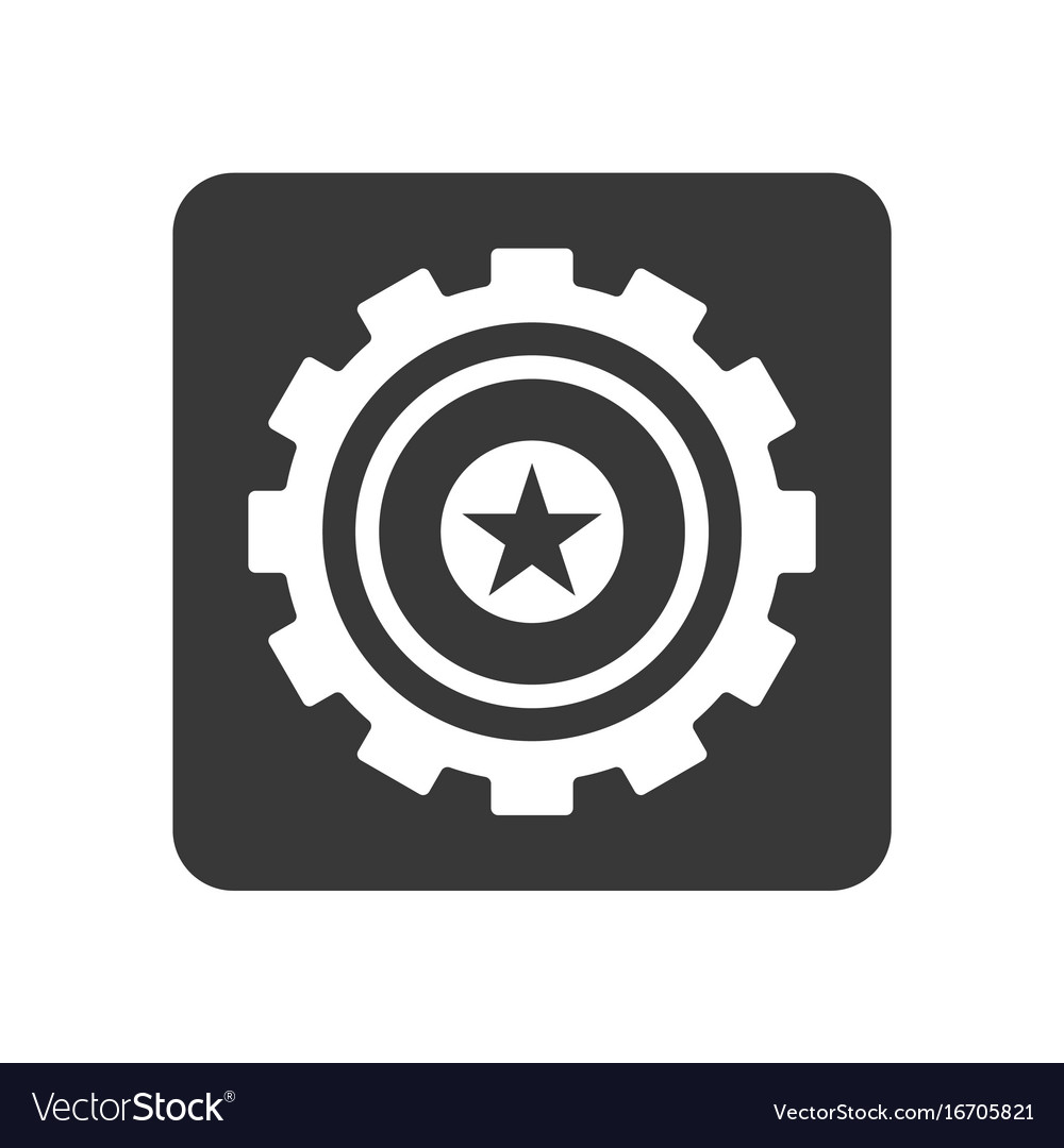 Quality Control Icon With Star Symbol Royalty Free Vector