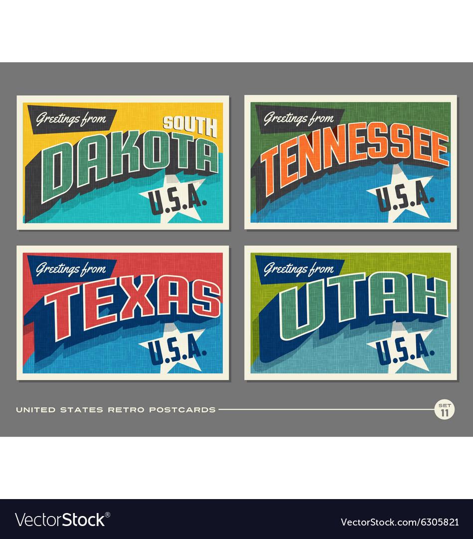 United states vintage postcards