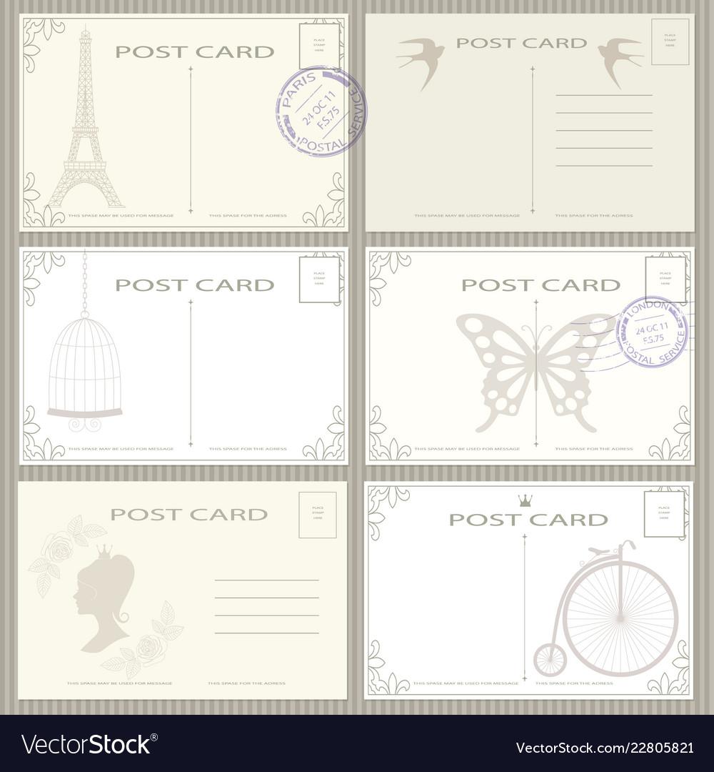 Vintage postage card set