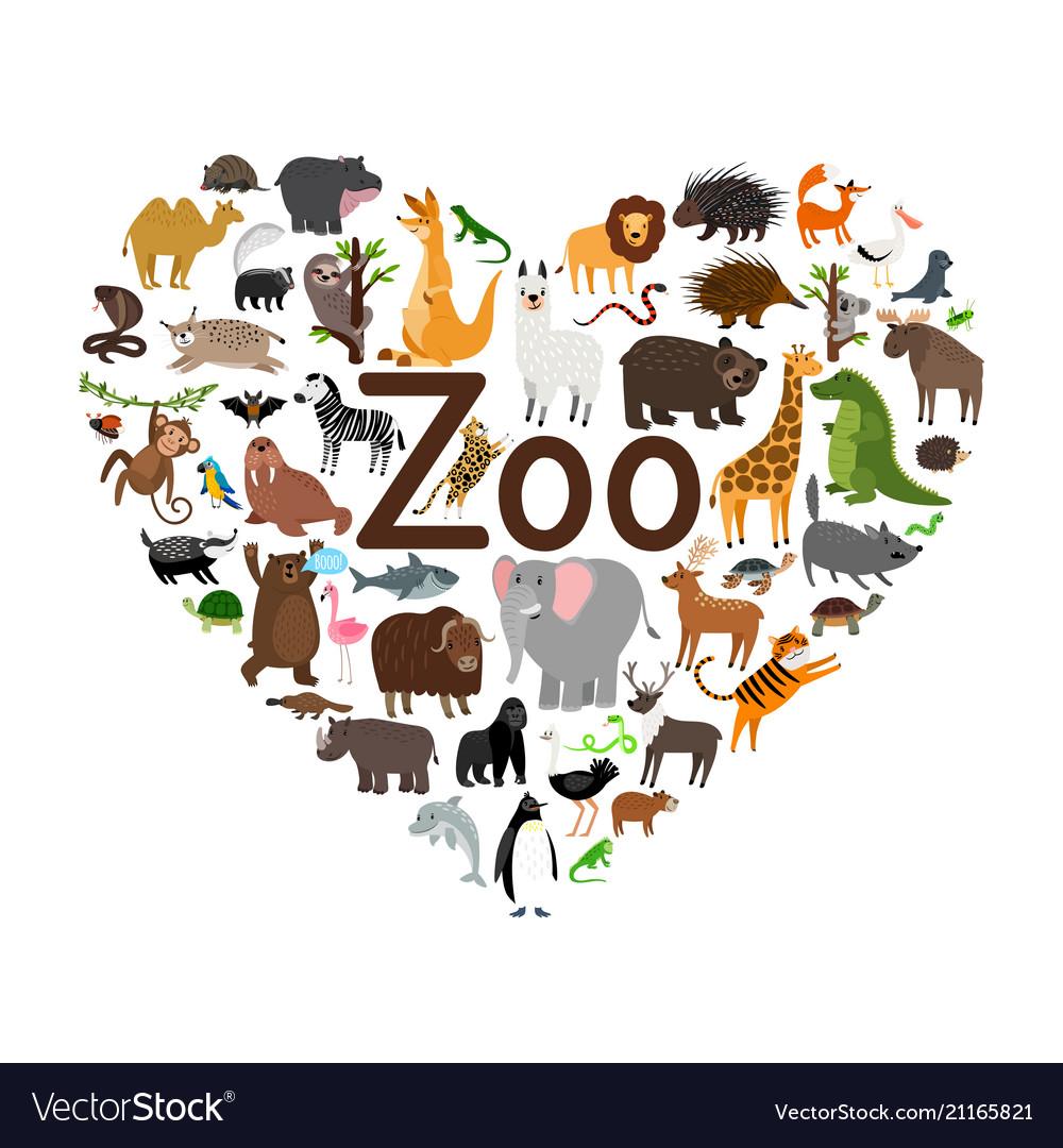 Zoo heart shape