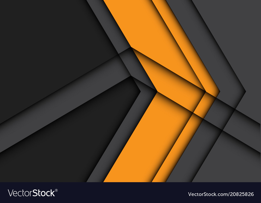 Abstract yellow arrow on gray design modern