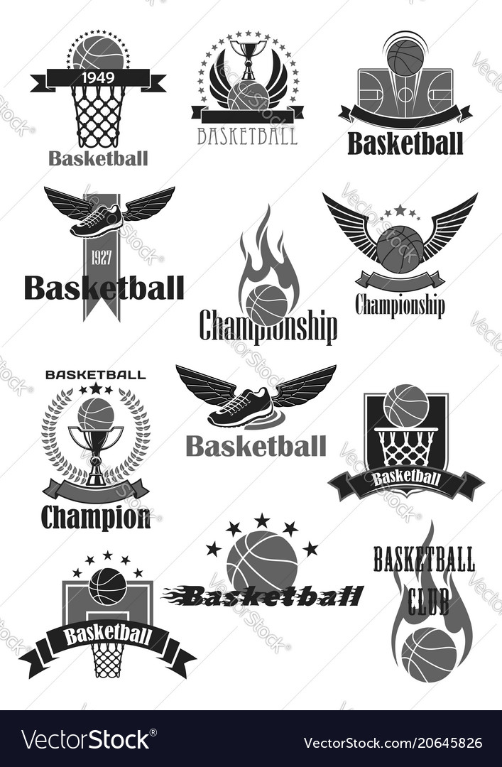 Basketball sport symbol for sporting club design