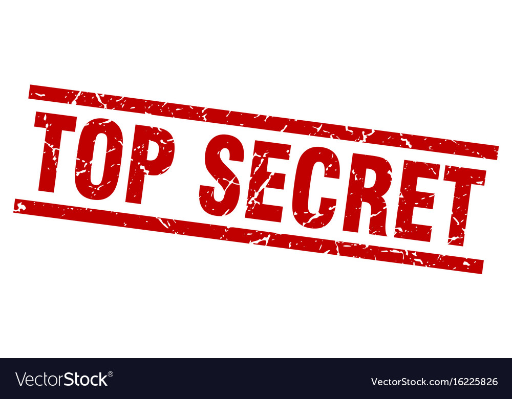 Square Grunge Red Top Secret Stamp Vector Image