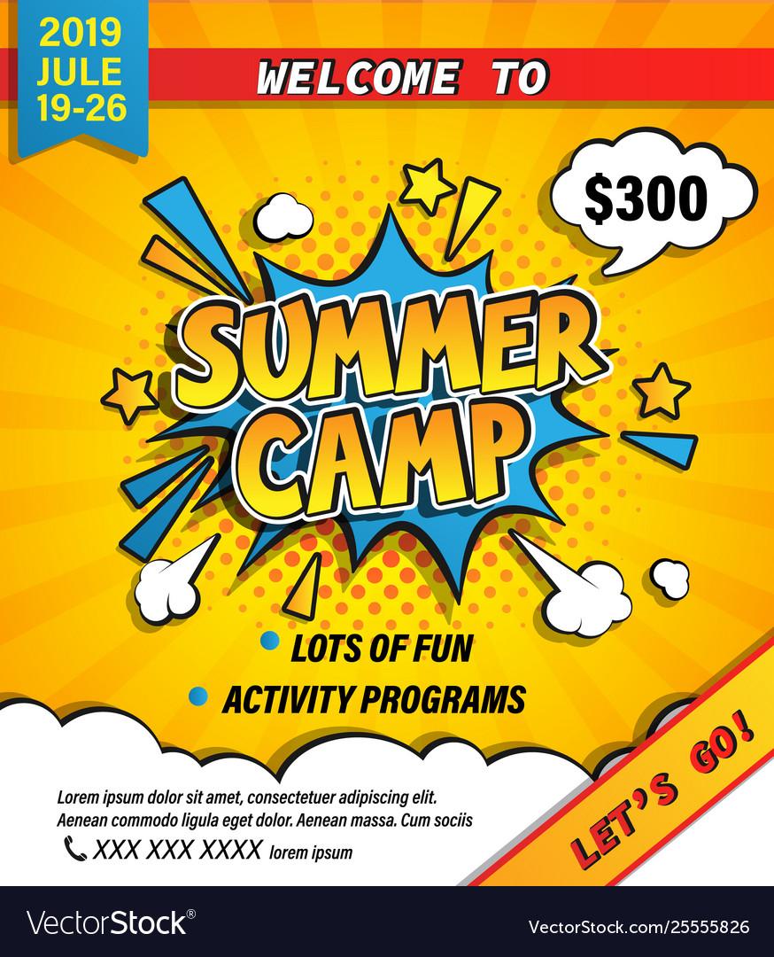 Summer camp invitation banner