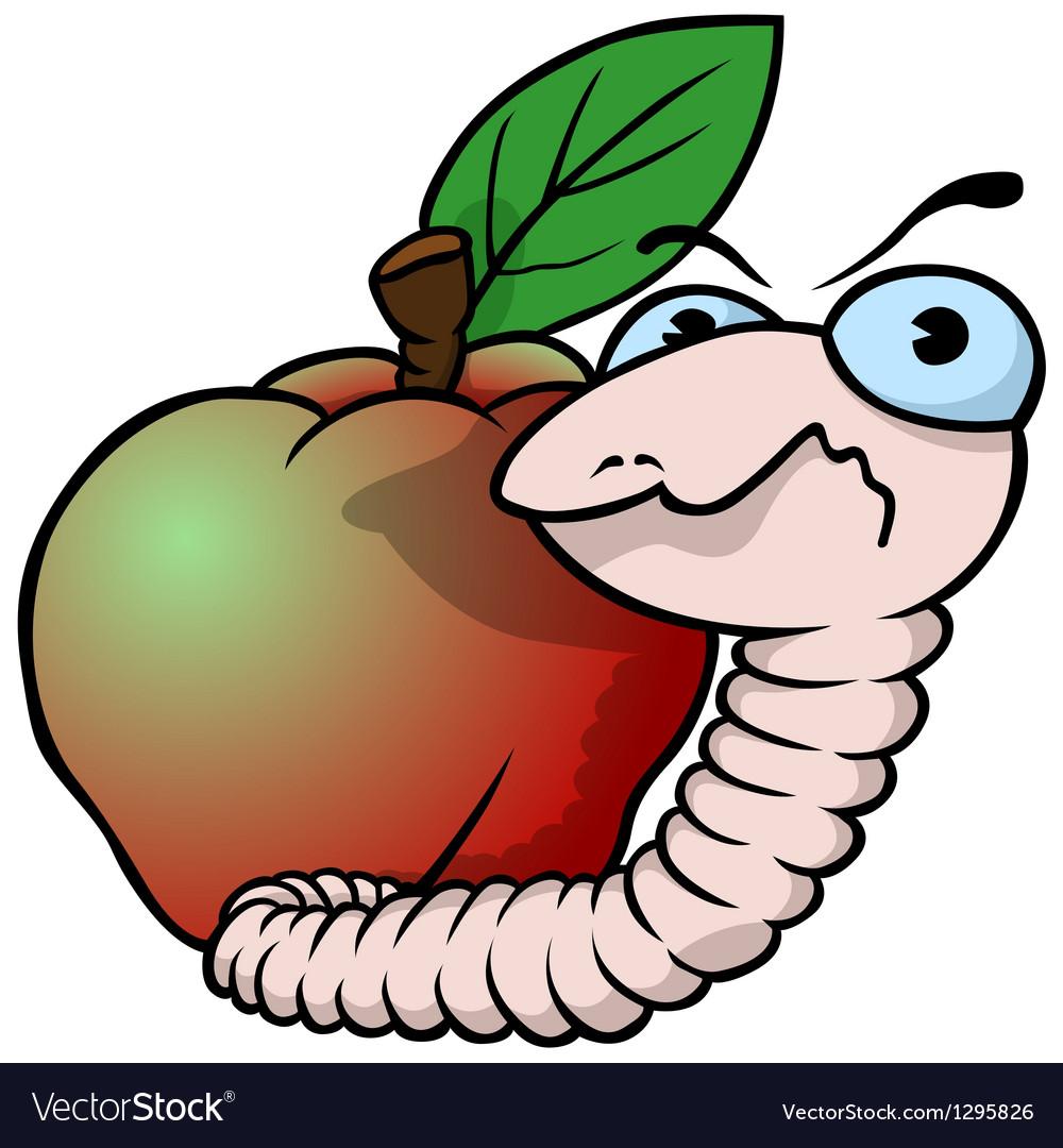 Картинка червяк во фрукте
