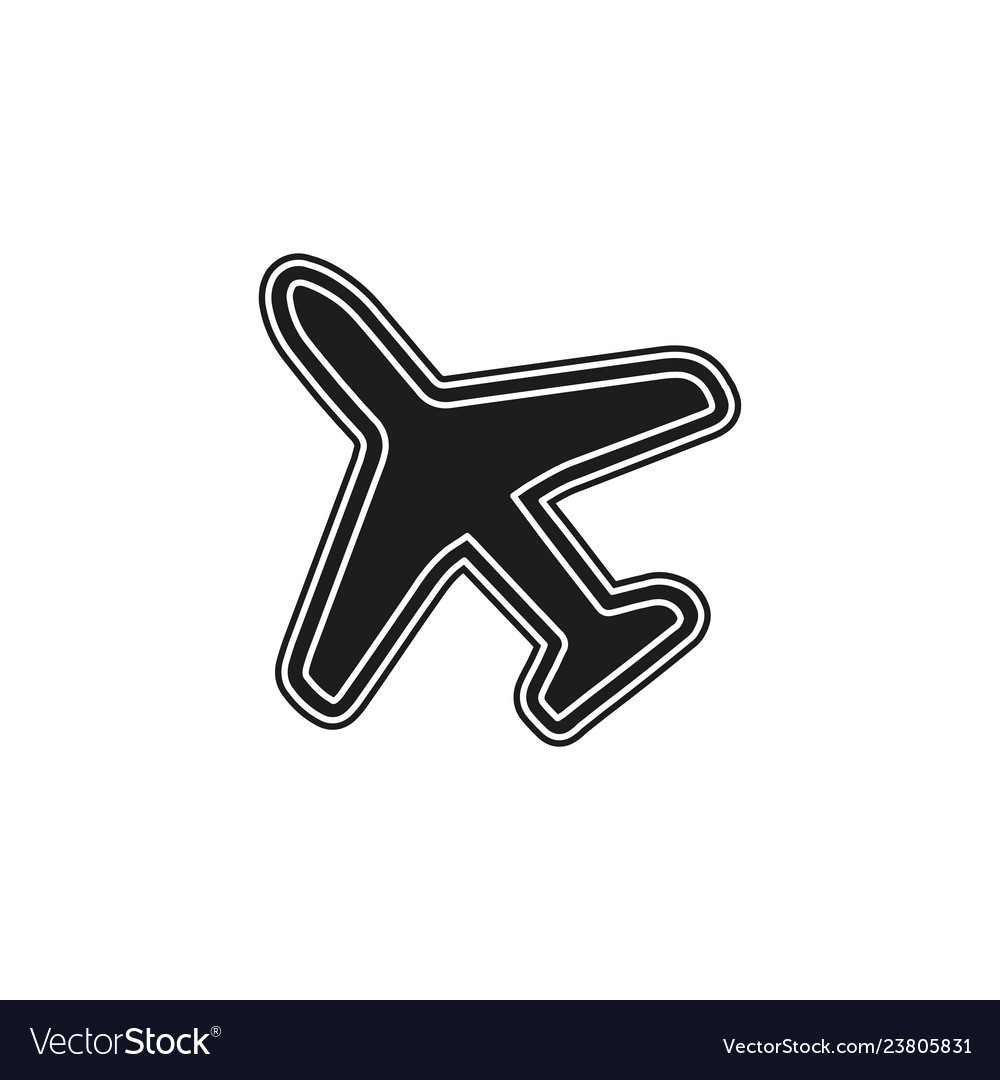 Airplane icon - travel icon - fly flight symbol