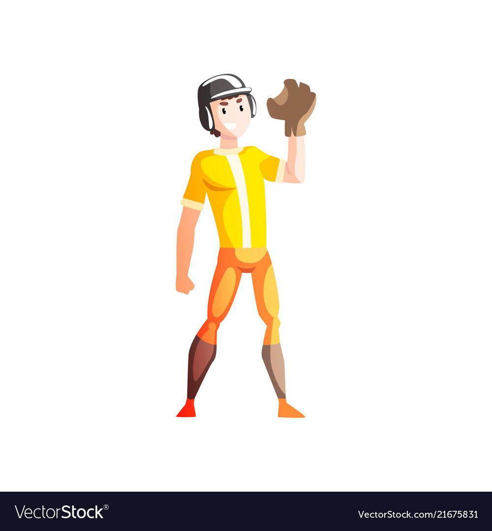 Baseball catcher player male sportsman character
