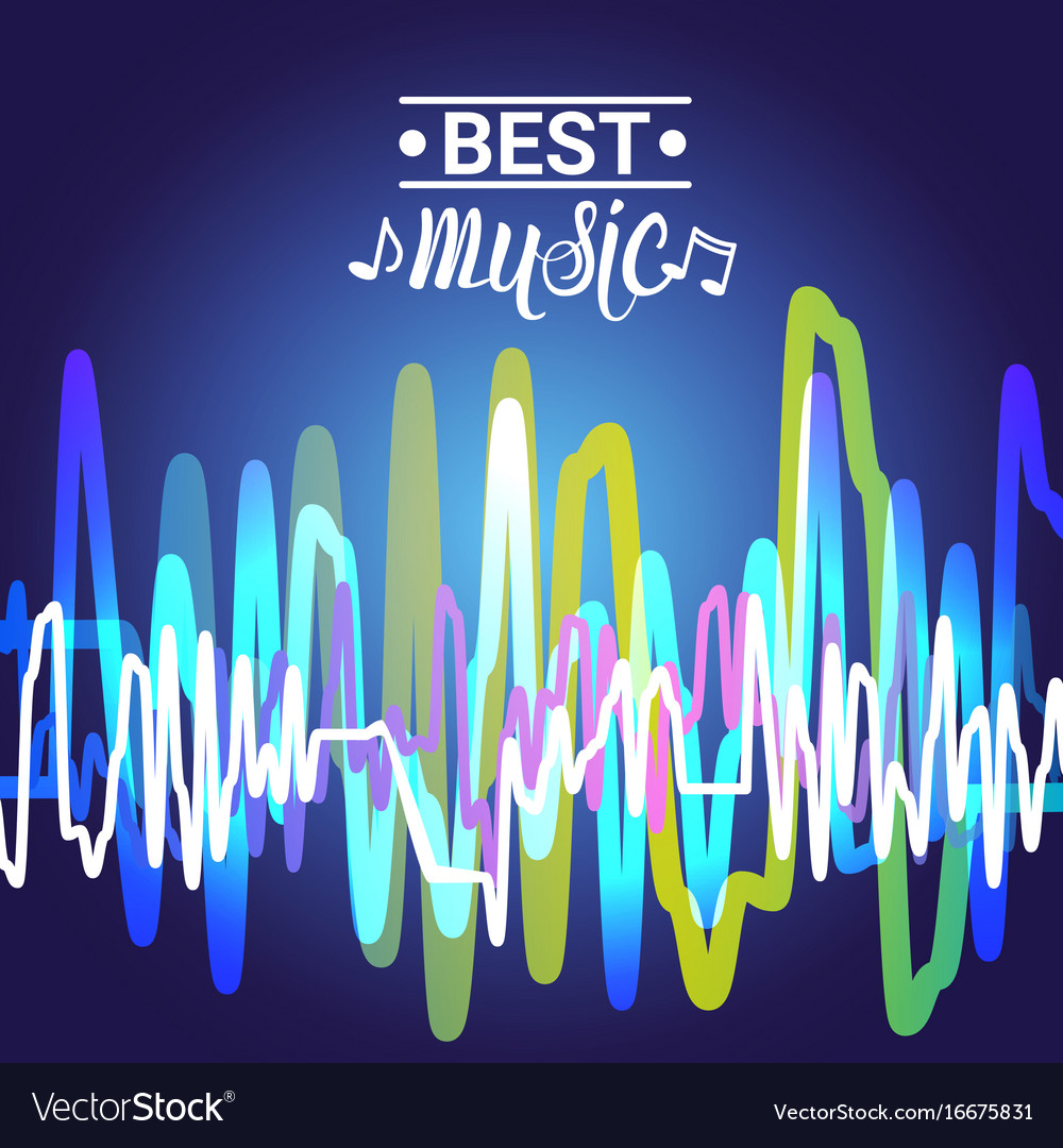 Best music banner colorful modern musical poster