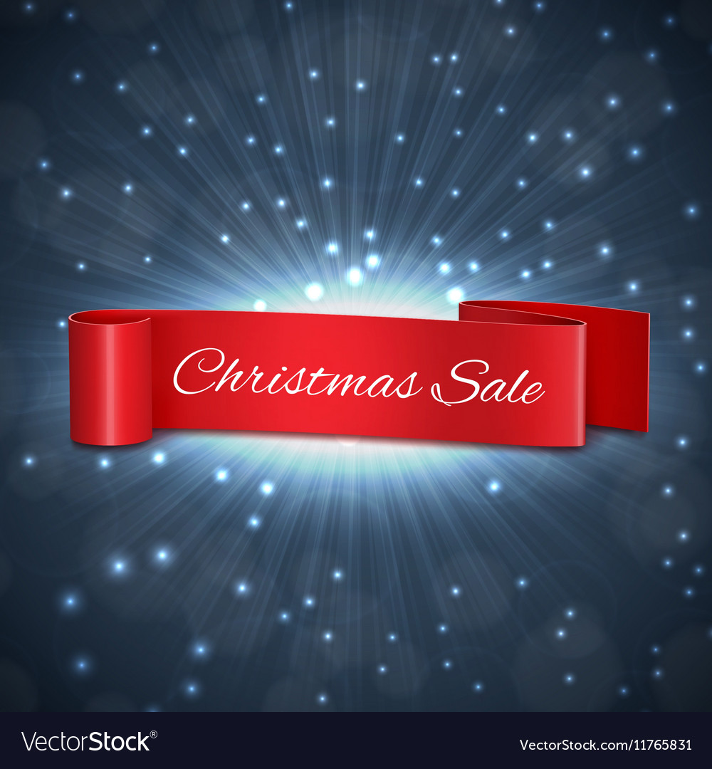 Christmas sale ribbon