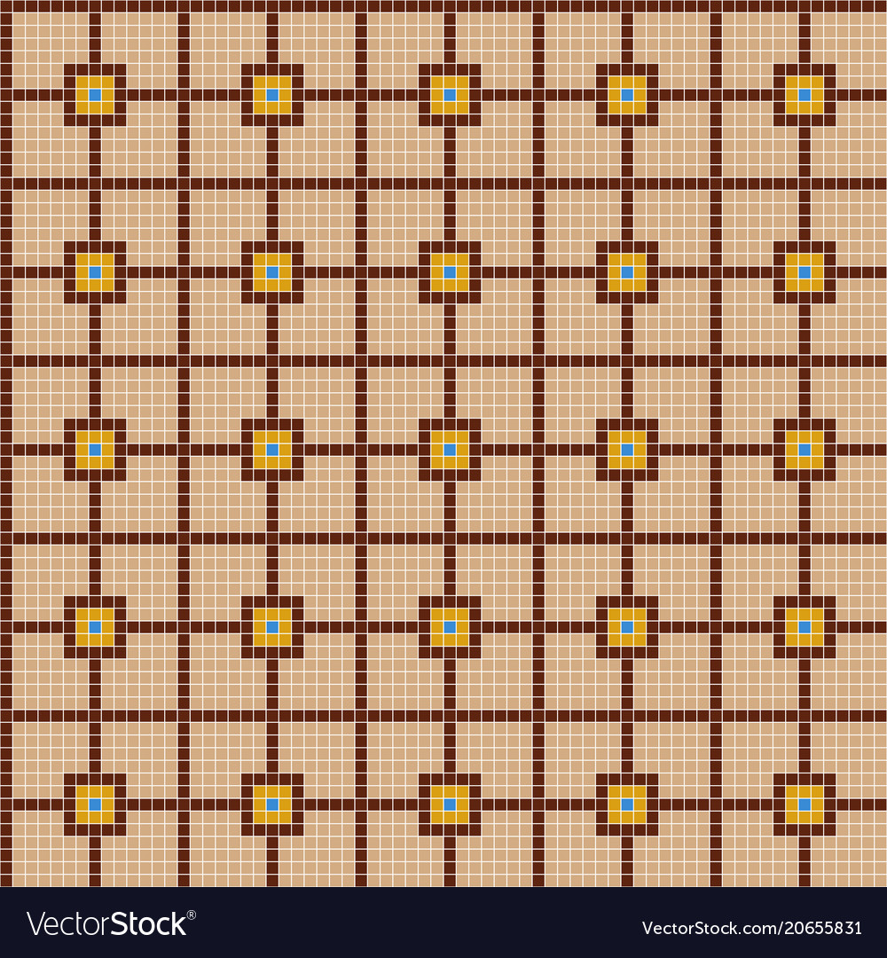 Color Ceramic Tile Mosaic Pattern Royalty Free Vector Image