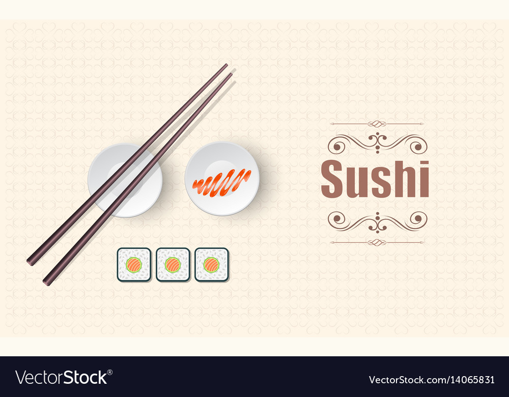 Concept design of the invitation sushi restaurant vector image stopboris Image collections