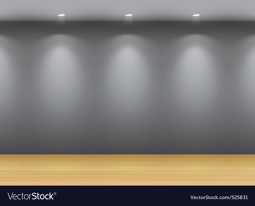 Gallery interio vector image