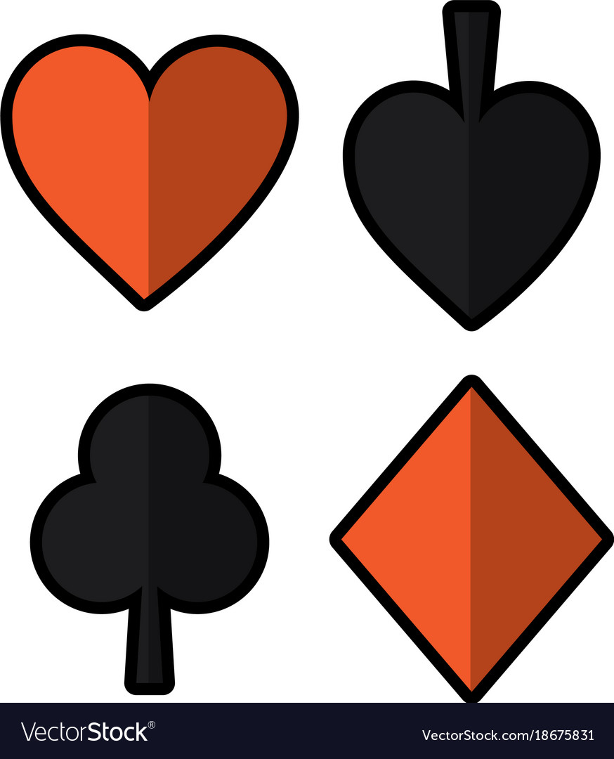 club heart stickers small playing card works diamond symbols spade c stf people by