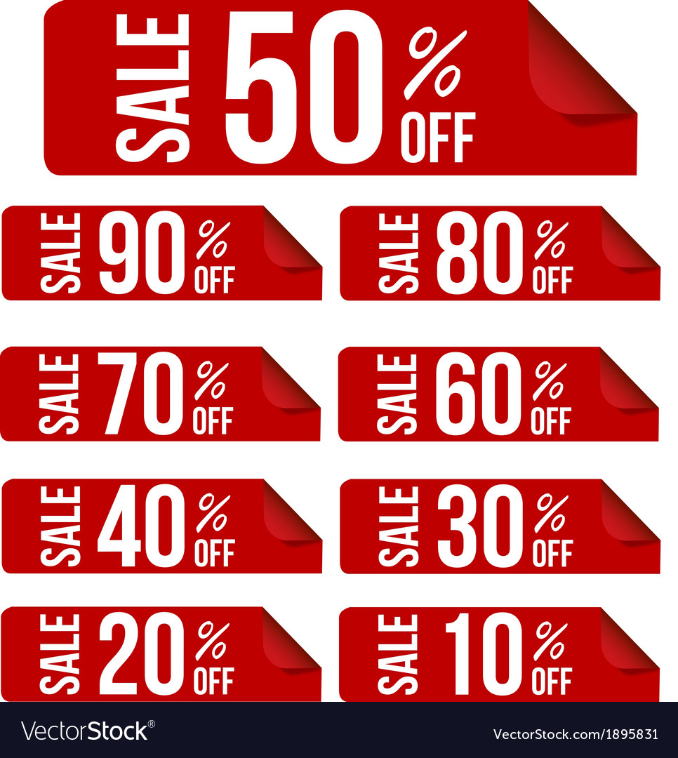 Sale percent sticker price tag flat design