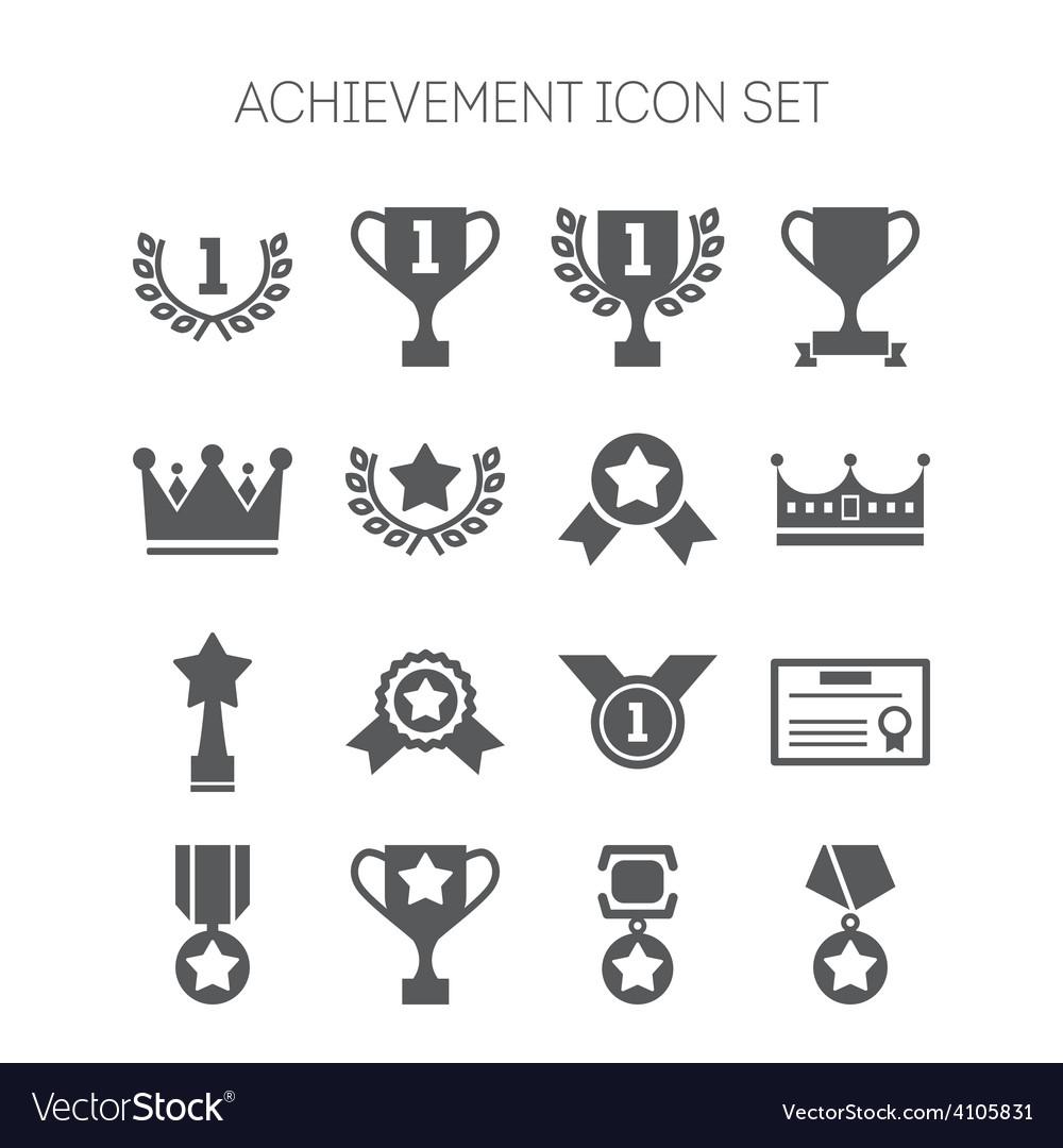 Set of simple achievement icons for web design vector image