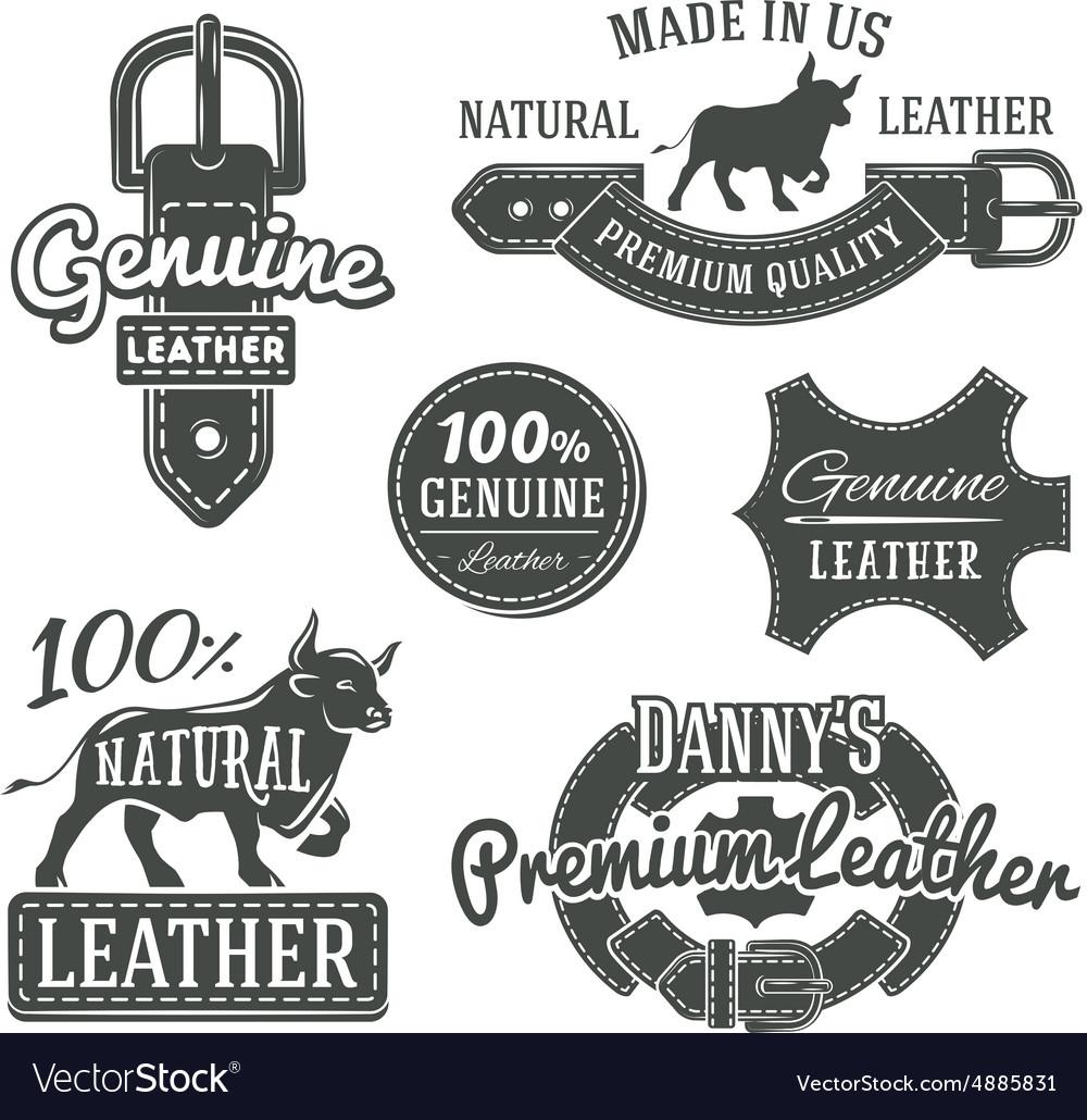 Set of vintage belt logo designs retro