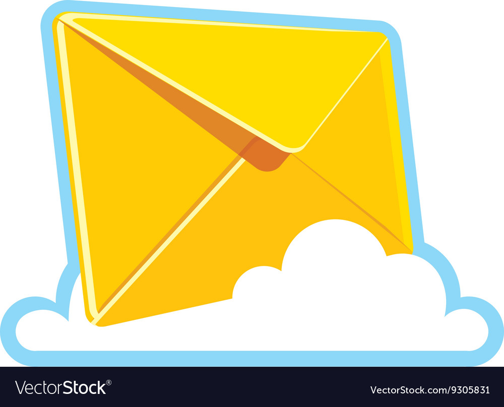 Yellow letter icon vector image