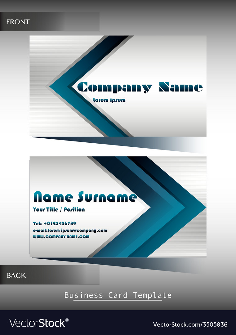 a company calling card royalty free vector image