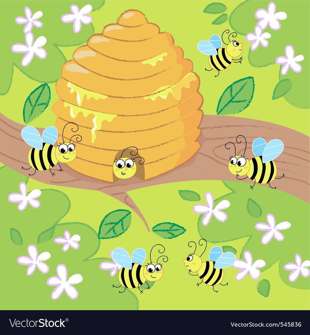 Cartoon beehive