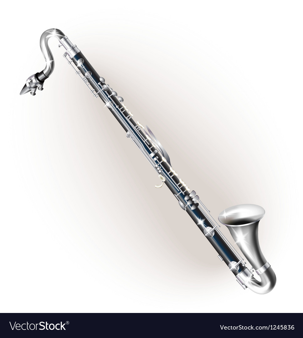Classical bass clarinet vector image