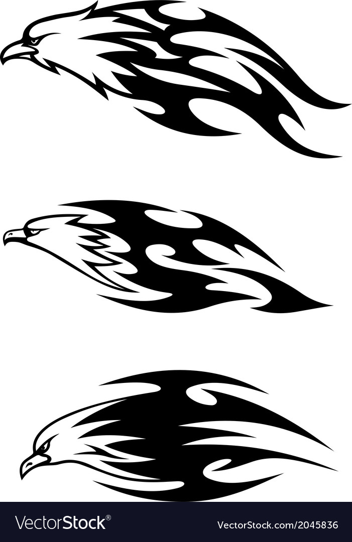 Eagle tattoos with flames