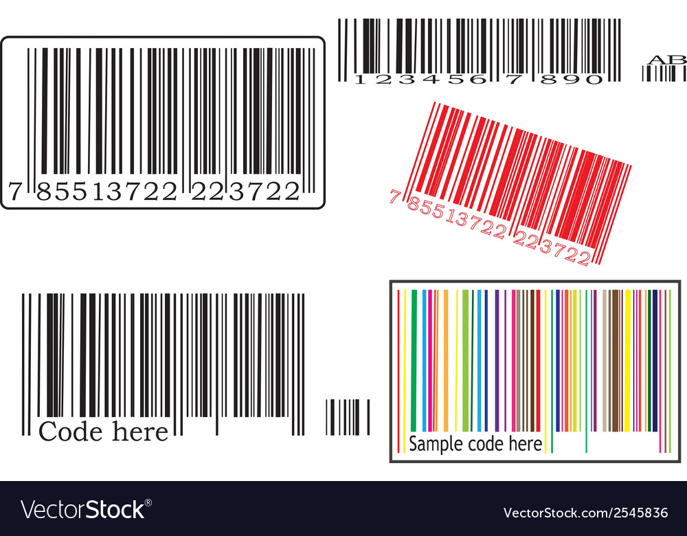 Set with barcodes
