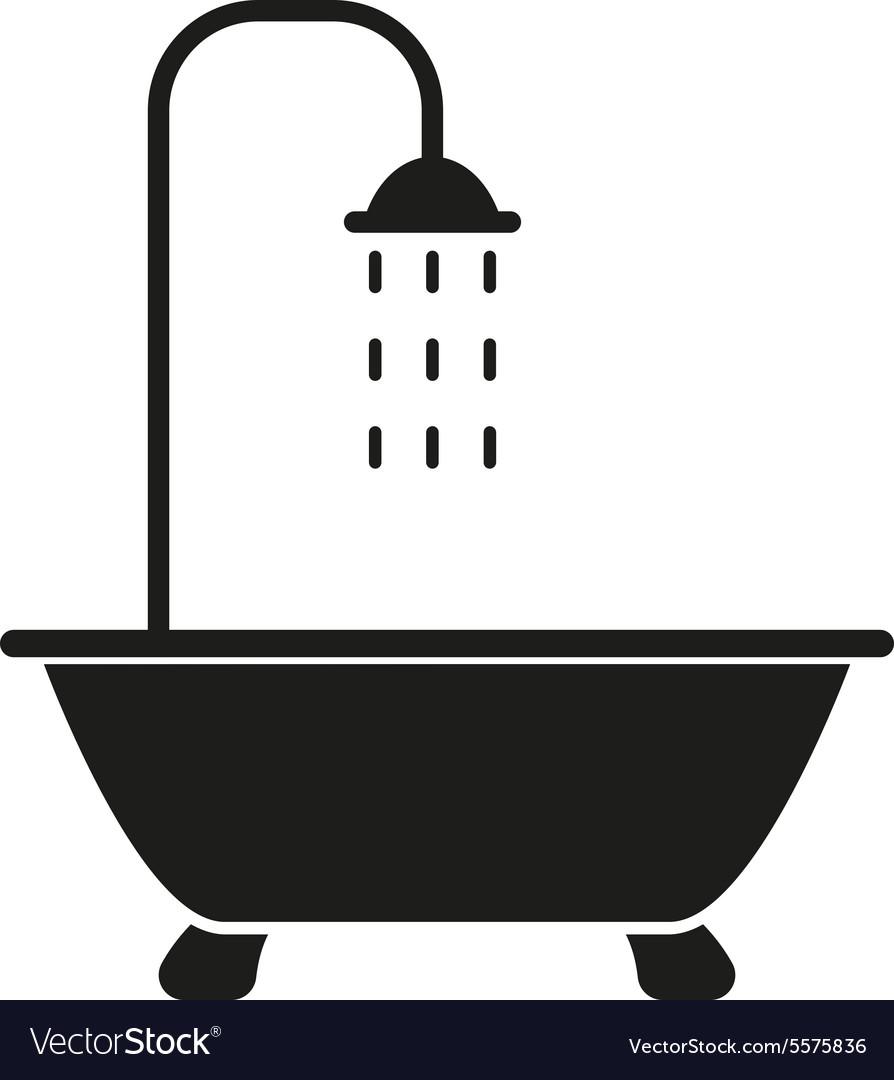 The Shower Icon Bathroom Symbol Flat Royalty Free Vector