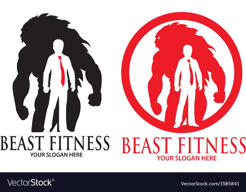 fitness logo  Beast Fitness Logo Royalty Free Vector Image - VectorStock